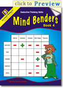 Mind Benders Book 4 Grades 3-6 (deductive thinking puzzles)