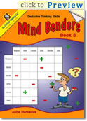 Mind Benders Book 5 Grades 7-12+ (deductive thinking puzzles)