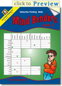 Mind Benders Book 7 Grades 7-12+ (deductive thinking puzzles)