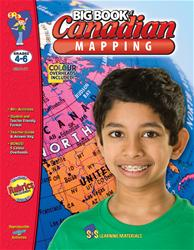 Canadian Mapping Big Book, S&S Grade 4-6 (Mapping Skills)