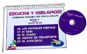 Escucha y Hablemos Book/CD 4 Spanish