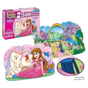 Puzzles - Enchanted Kingdom 2 sided Floor Puzzle  (Gift Ideas)