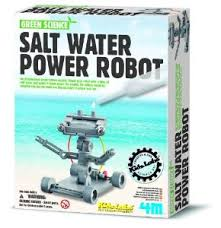Salt Powered Robot Green Science Kits (Gift Ideas, STEM)