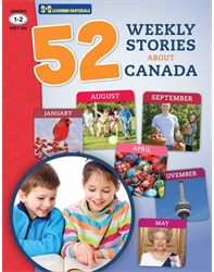 52 Weekly Stories About Canada Grades 1- 2 (Canadian Reading Comprehension)