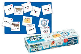 Word Families Pocket Chart Card Set 126 Double-Sided Cards