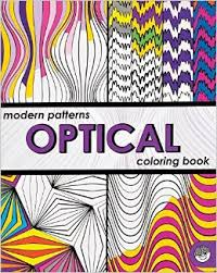 Modern Patterns Optical Coloring Book  (Gift Ideas) Art