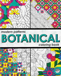 Modern Patterns Botanical Coloring Books  (Gift Ideas) Art