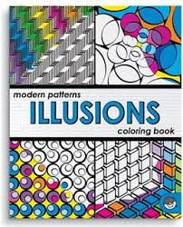 Modern Patterns Illusions Coloring Book  (Gift Ideas) Art