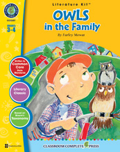 Owls in the Family Literature Kit Grade 3- 4 (Novel Sold Separately) (CP3, BC3)