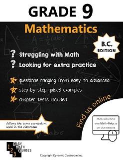 BC MATH 9 (Mathematics Guide, Dynamic Classroom) HCOS9, BC9, CP9