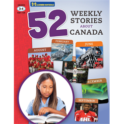 52 Weekly Stories About Canada Grades 3- 4 (Canadian Reading Comprehension)