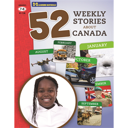 52 Weekly Stories About Canada Grades 7-8 (Canadian Reading Comprehension)