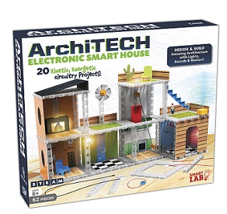 Archi-Tech Electronic Smart House (STEM, engineering, light, sound, motion, architecture)