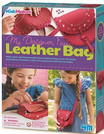 My Designer Faux Leather Bag Kit  (embroidery, stitching)