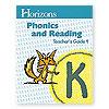Horizons Phonics and Reading Kindergarten Teacher's Guide 4  (faith based)