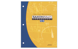 Saxon Math 54 Tests & Worksheets Booklet (3rd ed)