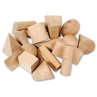 Geometric Wood Solids Set of 19    (Geometry)