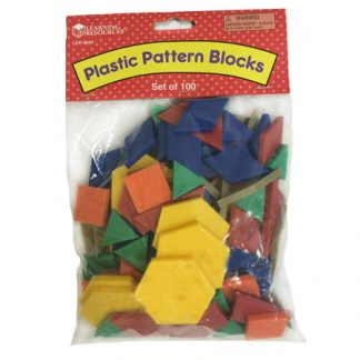 Mini-Set Pattern Blocks Plastic set of 100 (STEM)