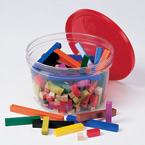 Cuisenaire Rods, Small Group Plastic Set of 155 rods (Gift Ideas, STEM)