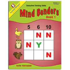 Mind Benders Book 2 Grades 1-2 (deductive thinking puzzles)