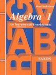 Saxon Math Algebra 1 Key and Test Forms (3rd ed) SALE PRICE $19.95