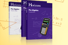 Horizons Math Grade 7 PreAlgebra Complete Set (faith-based)
