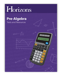 Horizons Math Grade 7 PreAlgebra Tests & Resources Book