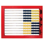 2-Color Desktop Abacus (STEM) (addition, subtraction,counting, BCK)