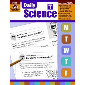 Daily Science Grade 1(Living Things, Plants, Animals, Sun, Moon, Stars, Seasons, Weather, Solid Liquid Gases, Force, Motion)