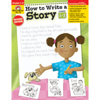 How to Write a Story 1-3, Evan Moor (CP3, BC1, BC2,BC3)