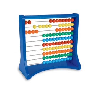 Ten Row Abacus (STEM) (addition, subtraction, counting, BCK)