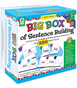 Big Box of Sentence Building (BCK, BC1) sight words recognition, grammar