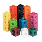 Snap Cubes Set of 1000 (math link snap together counters, counting, sorting, patterns)  STEM