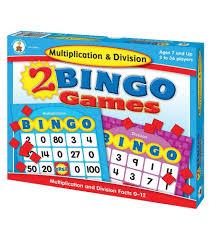 Multiplication & Division Bingo Board Game (STEM)