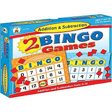 Addition & Subtraction Bingo Board Game (STEM)