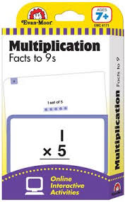 Learning Line: Multiplication Facts to 9s, Grades 2+ (Ages 7+) - Flashcards ( includes free access to online timed tests and interactive activities)
