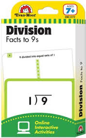 Learning Line: Division Facts to 9s, Grades 2+ (Ages 7+) - Flashcards ( includes free access to online timed tests and interactive activities)