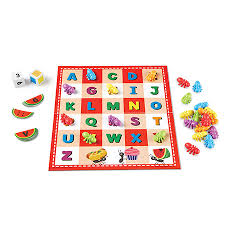 ABC & 123 Picnic Activity Set (double sided game board, alphabet, numbers, counting, BCK )