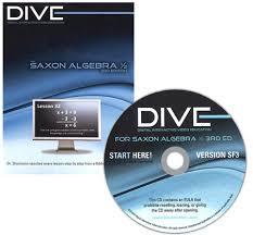 Saxon Math Algebra 1/2 3rd Edition DIVE CD-Rom
