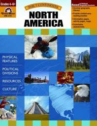 7 Continents: North America, Grades 4-6+ (geography, cultures, resources)