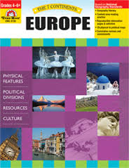 7 Continents: Europe, Grades 4-6+ (geography, cultures, resources)