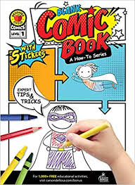 Blank Comic Book: A How-To Series Level 1 Activity Book Grades K- 2