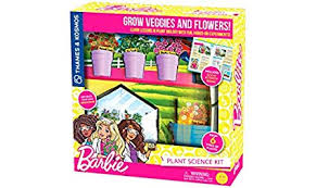Barbie Plant Science Kit- Grow veggies and flowers, and learn lessons in plant biology with fun, hands-on experiments (BCK, BC1, BC3)