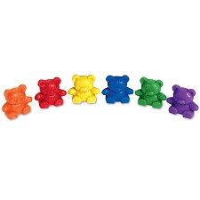 Baby Bear Counters (math, counting, sorting, patterns)  (suggested CPK, BCK, BC1, BC2)