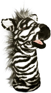 All About Reading Pre-Reading Ziggy Zebra Puppet (BCK)